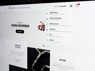 e-commerce default page ui ux shop commerce design interface page home default white grey menu