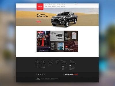 Isuzu Turkey Website isuzu dmax car site website ui ux design vehicle pickup truck bus