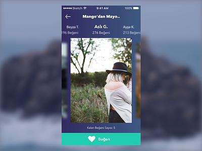 fashion app interface design ux ui slider magazine application mobile like vote fashion