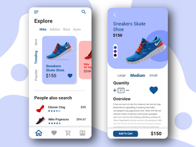 Shoe Shop App UI Design app ui adobe xd creative brand design mobile app app e-commerce shoe shop shop shoe ux ui