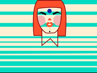 SANSKARI BABE app art illustrator minimal website web icon design logo illustration