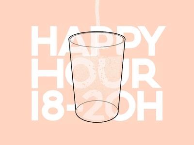 Happy Hour Work in progress illustration typography branding animation