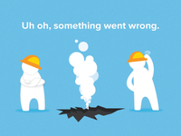 Opower Social error page