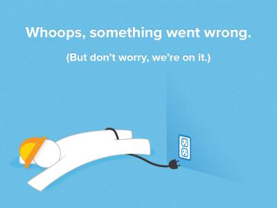 Opower Social - Site down error page by Garrett Miller - Dribbble