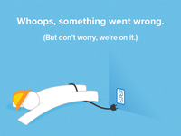 Opower Social - Site down error page