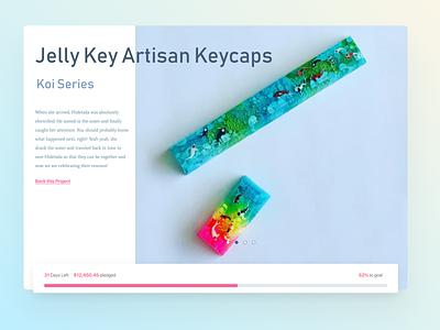 Jelly Key Artisan Keycaps - Group Buy Pledge keyboard magenta cyan fund groupbuy keycaps