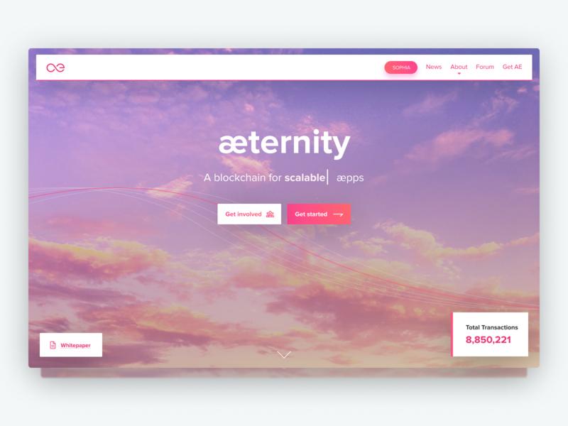 Aeternity redesign blockchain tangerine pink figma webdesign ui redesign aeternity