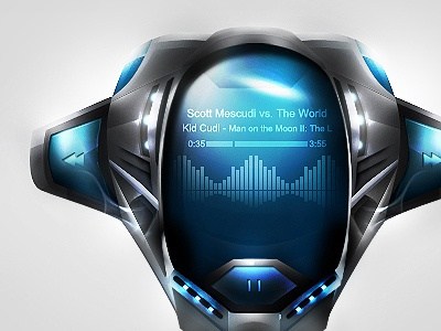 Encide Battlebay Step 14 photoshop art digital music interface ui futuristic
