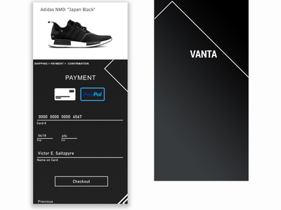 Dailyui 002 - Vanta Store checkout page