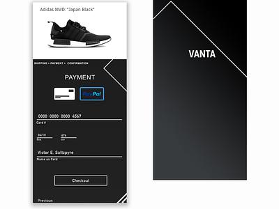 Dailyui 002 - Vanta Store checkout page dailyui dailyui002 checkout