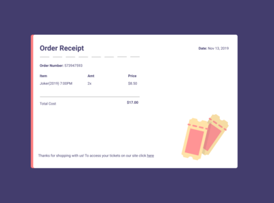 Email Receipt Design