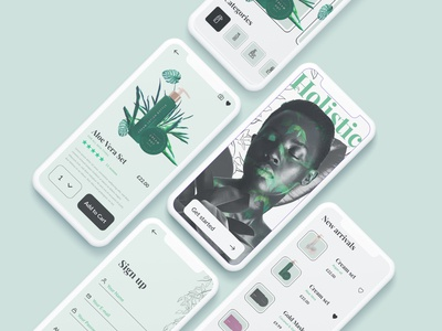 Holistic beauty app branding splash screen ui healthy store onboarding adobe xd splash make up design ecommerce app ecommerce design ecommerce cosmetics cosmetic beauty