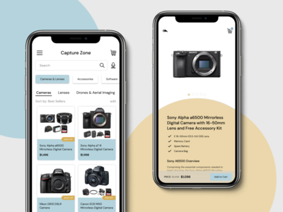 DailyUI 012 | E-Commerce Shop photography camera ecommerce shop ecommerce app design ux ui figma dailyui