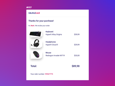 Daily UI #017, Email receipt ui dailyui dailyux challenge uipractice daily ui design