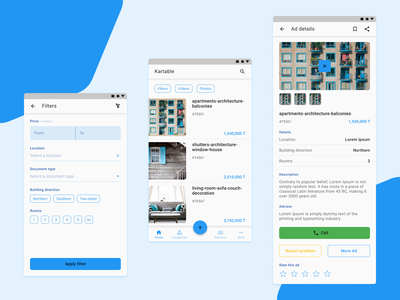 Real Estate App - Part 2 app ux ui typography design