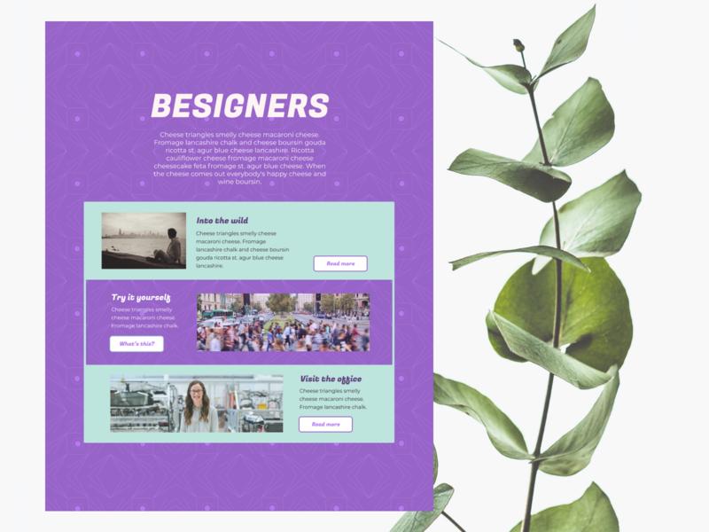 Besigners Landing Page