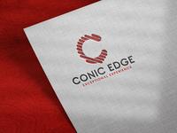 Conic Events Logo mockup icon brand identity design logo