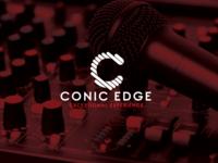 Conic Edge Events Co. Logo brand identity logo identity logo design