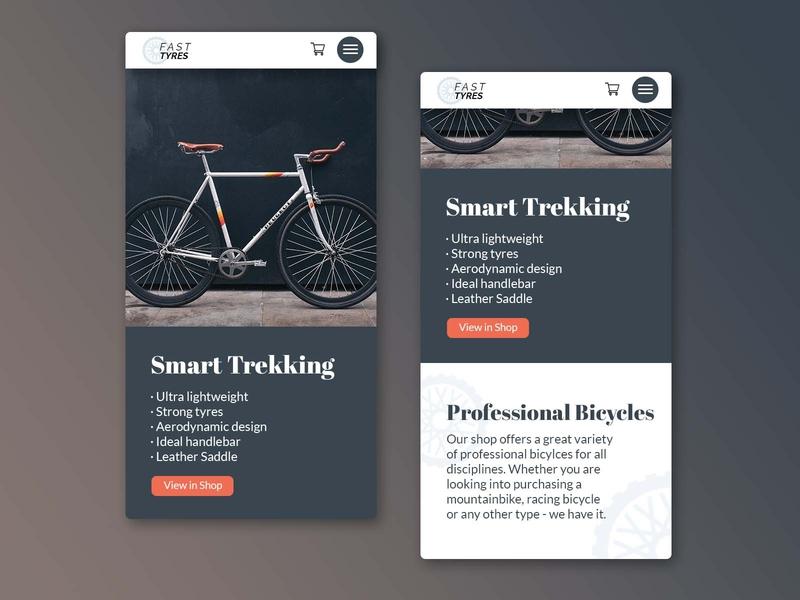 Bicycle Shop Mobile mobile view website design minimal drafts adobe photoshop homepage bicycle bike bike shop shop ui design user interface ux ui uiux responsive design responsive mobile website