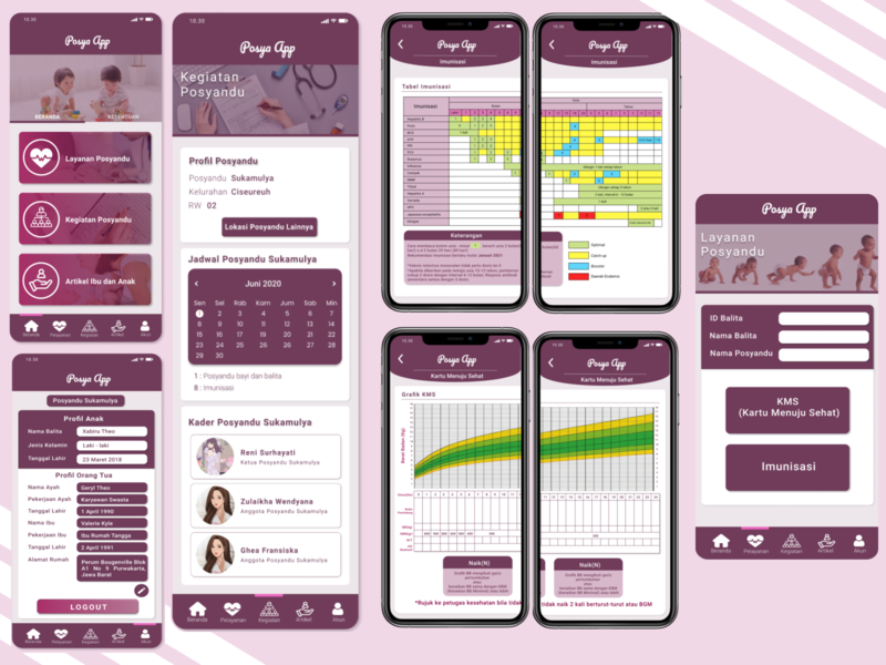 Posya App -Simple UI Design app design pink healthcare uiux medical ui uidesign health app