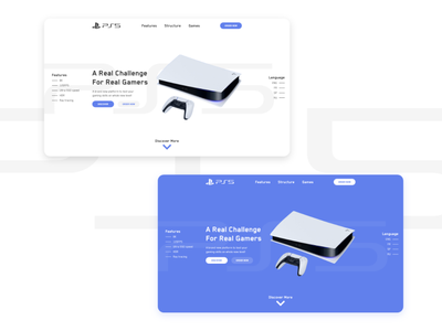 PS5 Landing Page Preview landing page design inspiration design inspiration design interface design uidesign ui dailyui