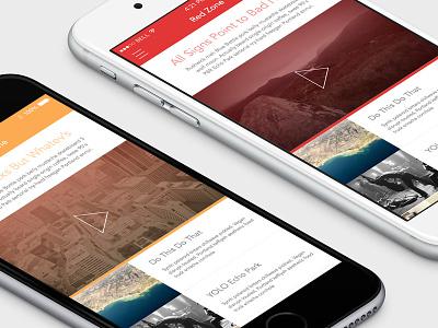 Color & Layout Exploration ui mobile app