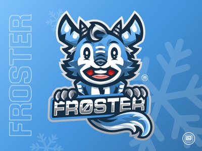 FROSTER Mascot Design icon esport logotype mascotlogo logo design logo typography illustration art vector design