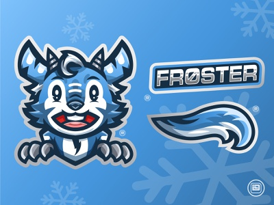 FROSTER Mascot Design icon esport logotype mascotlogo logo design logo typography illustration art vector design