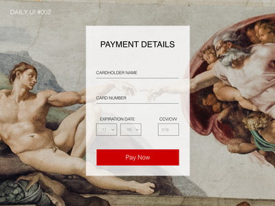 Payment page for Art gallery dailyui 002 figma design dailyui