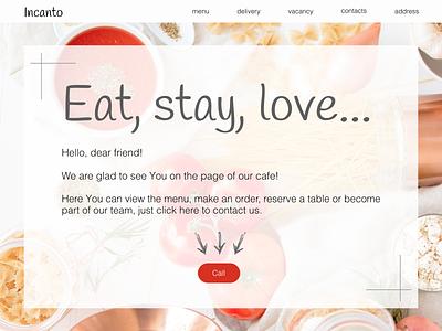 1st block of landing page for cafe design landingpage figma dailyui003 dailyui