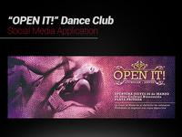 """""""Open It!"""" Dance Club Social Media Art Work"""