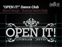 """Open It!"" Dance Club's Brand Design"