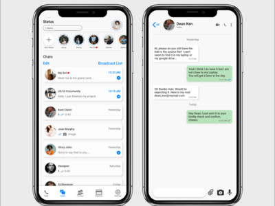 WhatsApp Redesigned UI ux design whatsapp chat app ui design