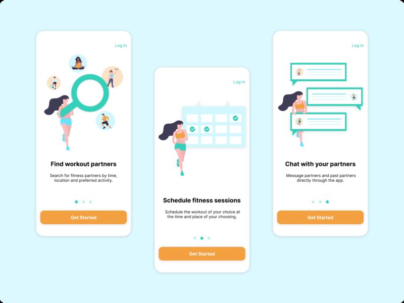 Fitness App Intro Screens