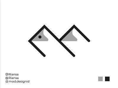 Montain Fish - Logo Design cute wild river montserrat logodesign design comunity company modernlogo awesome logo branding minimalist logo logo fish montain