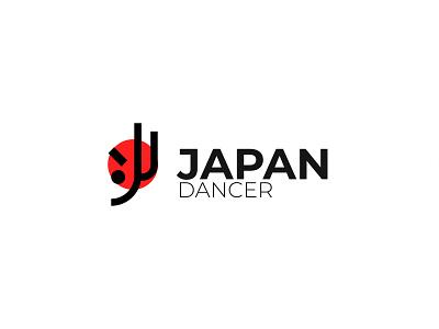 Japan Dancer - Logo Design logo design services graphic design logo outline modernlogo minimalist logo company awesome logo logo breakdance health workout aerobic nation flag japanese japan dancer dance