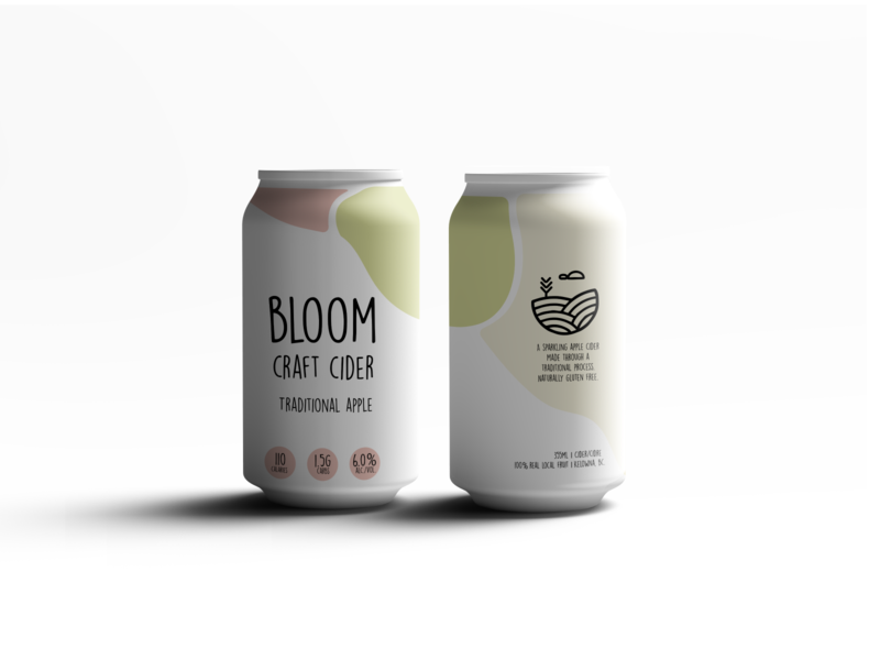Bloom Craft Cider | Traditional Apple packaging design branding
