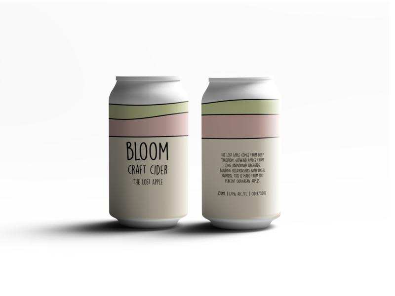 Bloom Craft Cider | The Lost Apple minimal typography logo design packaging branding