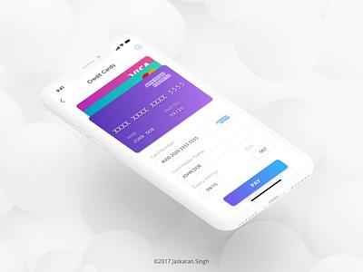 Card Checkout design ui ios mobile checkout card