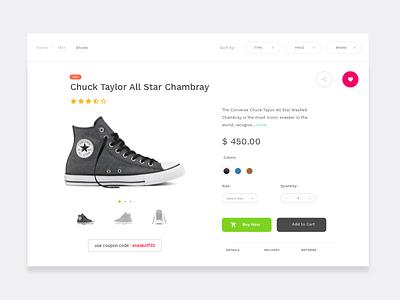 Single Product ui design shop product ecommerce