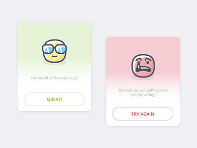 Flash Messages ui design error success cards flash message