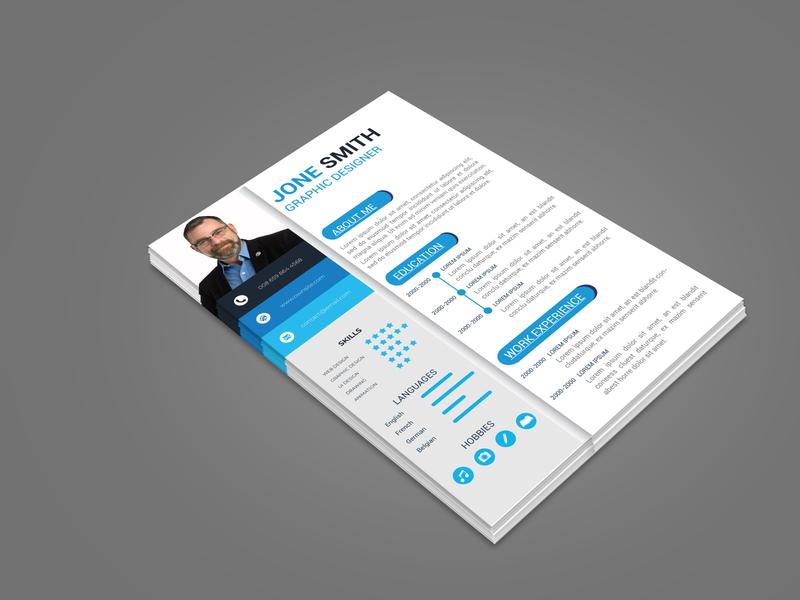 Resume flyer type flat logo brainding minimal illustrator typography vector design branding illustration