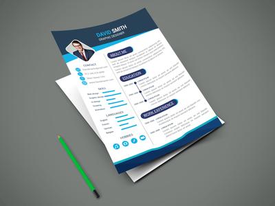 Resume ui flyer type flat brainding minimal illustrator typography vector design branding illustration
