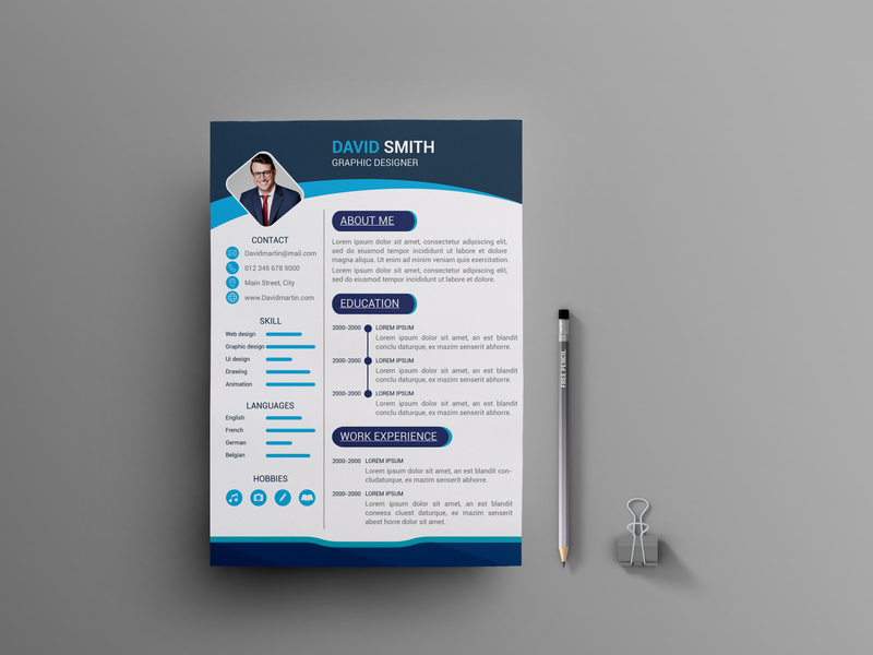 Resume flyer flat type brainding minimal illustrator typography vector design branding illustration