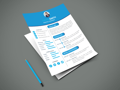 Resume flyer design flyer type flat brainding minimal illustrator typography vector design branding illustration