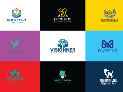 Logo logo Design flyer type flat logo brainding minimal illustrator design vector typography illustration branding