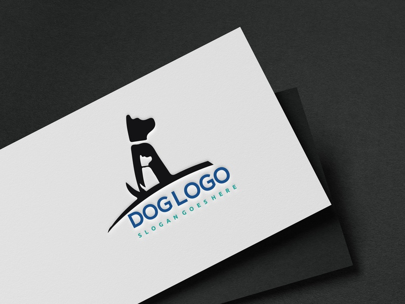 Dog logo design logo brainding minimal illustrator design vector flat typography illustration branding