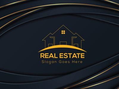 Realestate Logo Design flyer type flat logo brainding minimal illustrator vector design typography illustration branding