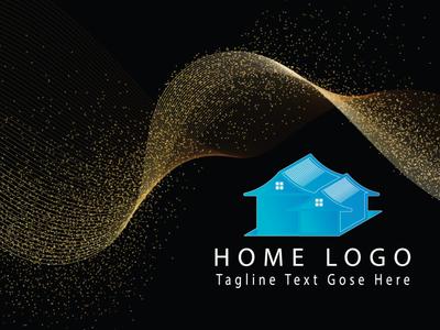 Home Logo flyer type flat logo brainding minimal illustrator vector design typography illustration branding