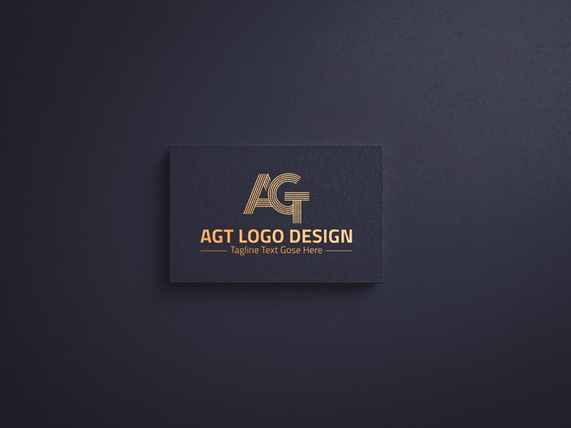 AGT Logo Design art flyer design flyer flat logo brainding minimal vector typography branding